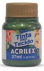 TINTA PARA TECIDO ACRILEX METALICA VERDE OLIVA 37 ML
