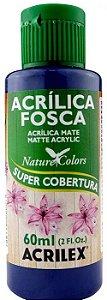 TINTA ACRILICA FOSCA AZUL SECO NAT. COLORS 60 ML ACRILEX