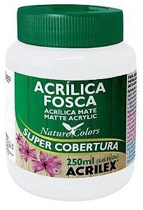 TINTA ACRILICA FOSCA BRANCO 250 ML ACRILEX