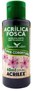 TINTA ACRILICA FOSCA GRAFITE NAT. COLORS 60 ML ACRILEX