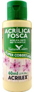 TINTA ACRILICA FOSCA OCRE NAT. COLORS 60 ML ACRILEX