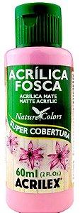 TINTA ACRILICA FOSCA ROSA ESCURO NAT. COLORS 60 ML ACRILEX