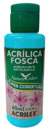 TINTA ACRILICA FOSCA TURQUESA NAT. COLORS 60 ML ACRILEX