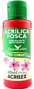 TINTA ACRILICA FOSCA VERMELHO ESCA NAT. COLORS 60 ML ACRILEX