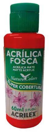 TINTA ACRILICA FOSCA VERMELHO NAT. COLORS 60 ML ACRILEX