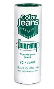 CORANTE DIRETO COLOR JEANS 40 G COR 20 VERDE guarany