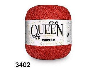 FIO QUEEM 5 2 100GR 424MT COR 3402 vermelho circulo