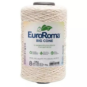 BARBANTE EUROROMA FIO 8 COR CRU 1,8KG