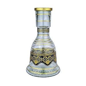 Vaso ZH Sino Detalhes 25cm - Gold