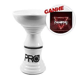 Rosh Pro Hookah Relevo Clássico Branco + Brinde Papel Alumínio ZH
