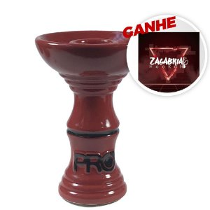Rosh Pro Hookah Relevo Clássico Vermelho + Brinde Papel Alumínio ZH