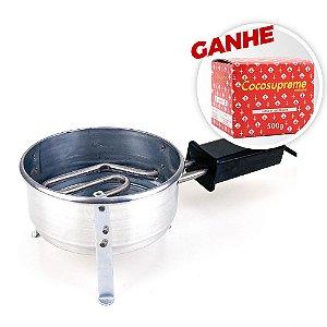 Fogareiro ZH Médio 220v + Brinde Carvão Coco Supreme 250g