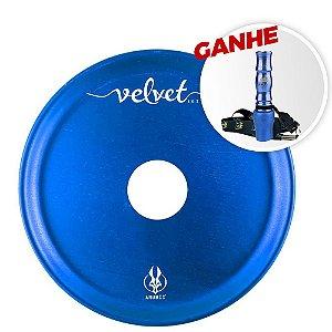Prato Anubis 18cm Velvet Azul Escuro + Brinde Piteira Higiênica PK