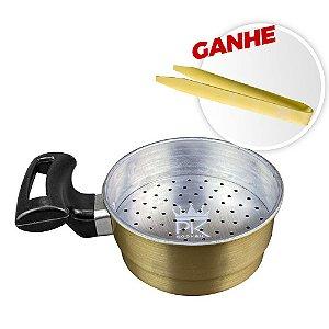 Batedor de Carvão PK Dourado + Brinde Pegador ZH