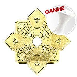 Prato Diamond Hookah Dourado + Brinde Rosh Black Hookah Branco