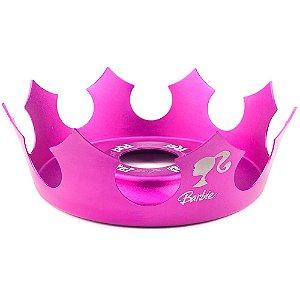 Prato Coroa Rei Médio 19cm - Barbie Rosa