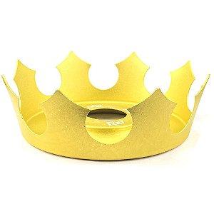 Prato Coroa Rei Médio 19cm - Dourado