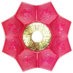 Prato EBS Hookah New Lotus G 27cm - Rosa/Dourado