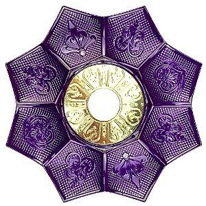 Prato EBS Hookah New Lotus G 27cm - Roxo/Dourado