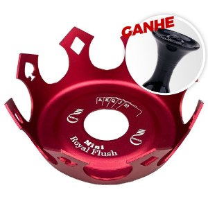 Prato Zenith Coroa Royal Flush Vermelho + Brinde Rosh Black Hookah