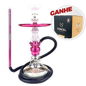Narguile Amazon Hookah Future Prime Rosa + Brinde Carvão Chacal