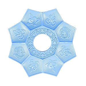 Prato EBS Hookah New Lotus Mini 16cm - Azul Claro