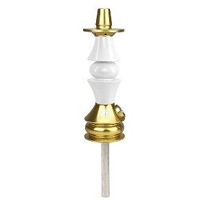 Stem Narguile Marajah Hookah Umbrella Nano Dourado/Branco Fusion
