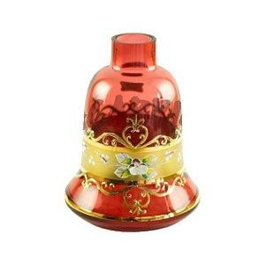 Vaso Mini Bohemian Egermann Sino Flower Ruby