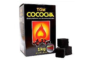 Carvão Tom Cococha Gold Cúbico 1KG (72 peças)