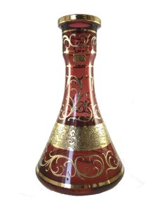 Vaso Bohemian Egermann Tower Yunan Ruby 30cm