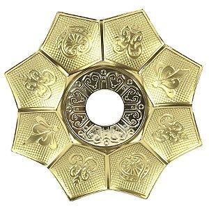 Prato EBS Hookah New Lotus P 18cm - Dourado/Dourado