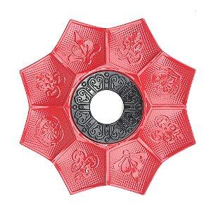 Prato EBS Hookah New Lotus P 18cm - Vermelho/Preto
