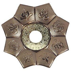 Prato EBS Hookah New Lotus M 22cm - Bronze/Dourado
