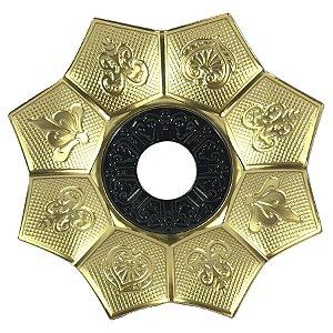 Prato EBS Hookah New Lotus M 22cm - Dourado/Preto