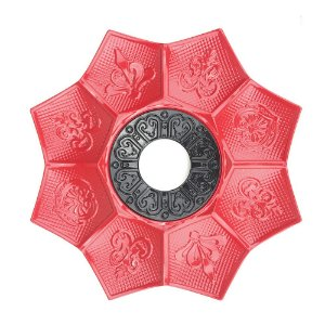 Prato EBS Hookah New Lotus M 22cm - Vermelho/Preto