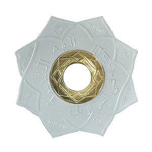 Prato Gods Of Hookah Aegis - Branco/Dourado