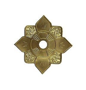 Prato Hookah King Imperial Mini - Dourado