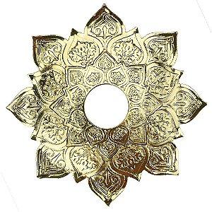 Prato JN Hookah Zeus Mini - Dourado