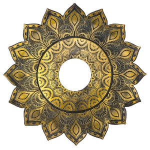 Prato JN Hookah Artemis Mini - Dourado Velho