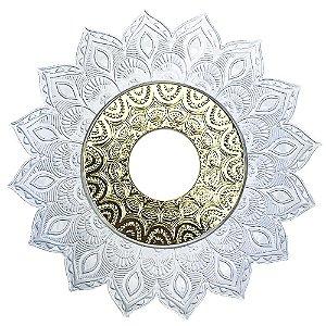 Prato JN Hookah Artemis Mini - Branco/Dourado