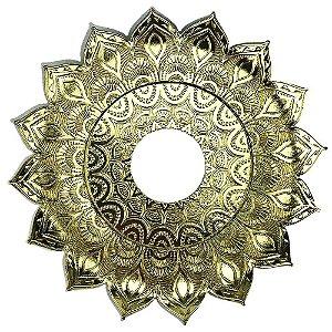 Prato JN Hookah Artemis Mini - Dourado