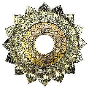 Prato JN Hookah Artemis Mini - Dourado/Dourado Velho