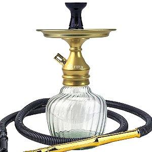 Kit Narguile Completo Al Farid Dourado- KIT140