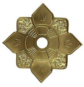 Prato Hookah King Imperial - Dourado