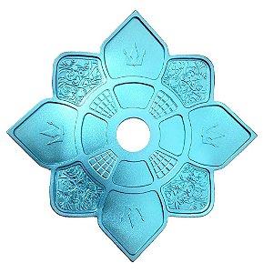 Prato Hookah King Imperial - Azul Claro