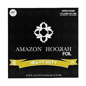 Papel Aluminio Amazon Hookah Foil 25 Folhas