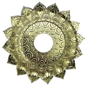 Prato JN Hookah Persia Médio - Dourado/Dourado