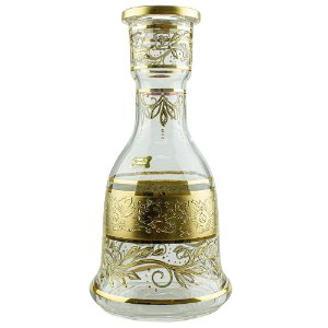 Vaso Bohemian Egermann Sino New Tribal 30cm - Clear