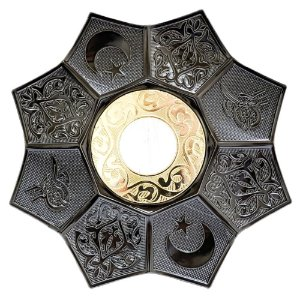 Prato EBS Hookah Zamac Lotus M 22cm - Chumbo/Dourado