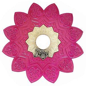 Prato EBS Hookah One M 22cm - Rosa/Dourado